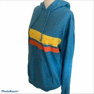 Billabong blue striped hoodie size XL Unisex